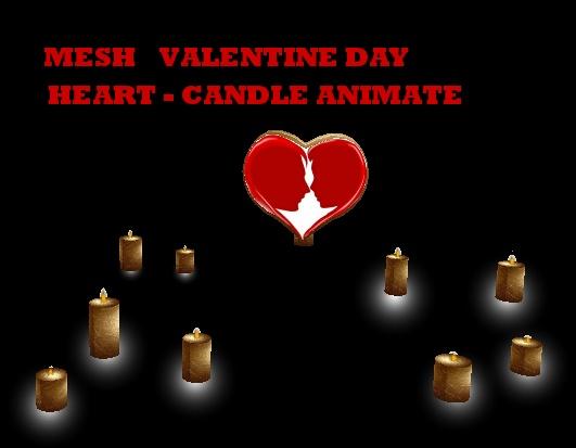HEART-CANDLE ANIMATE MESH