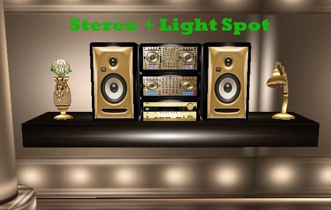 MOBILE STEREO + LIGHT SPOT