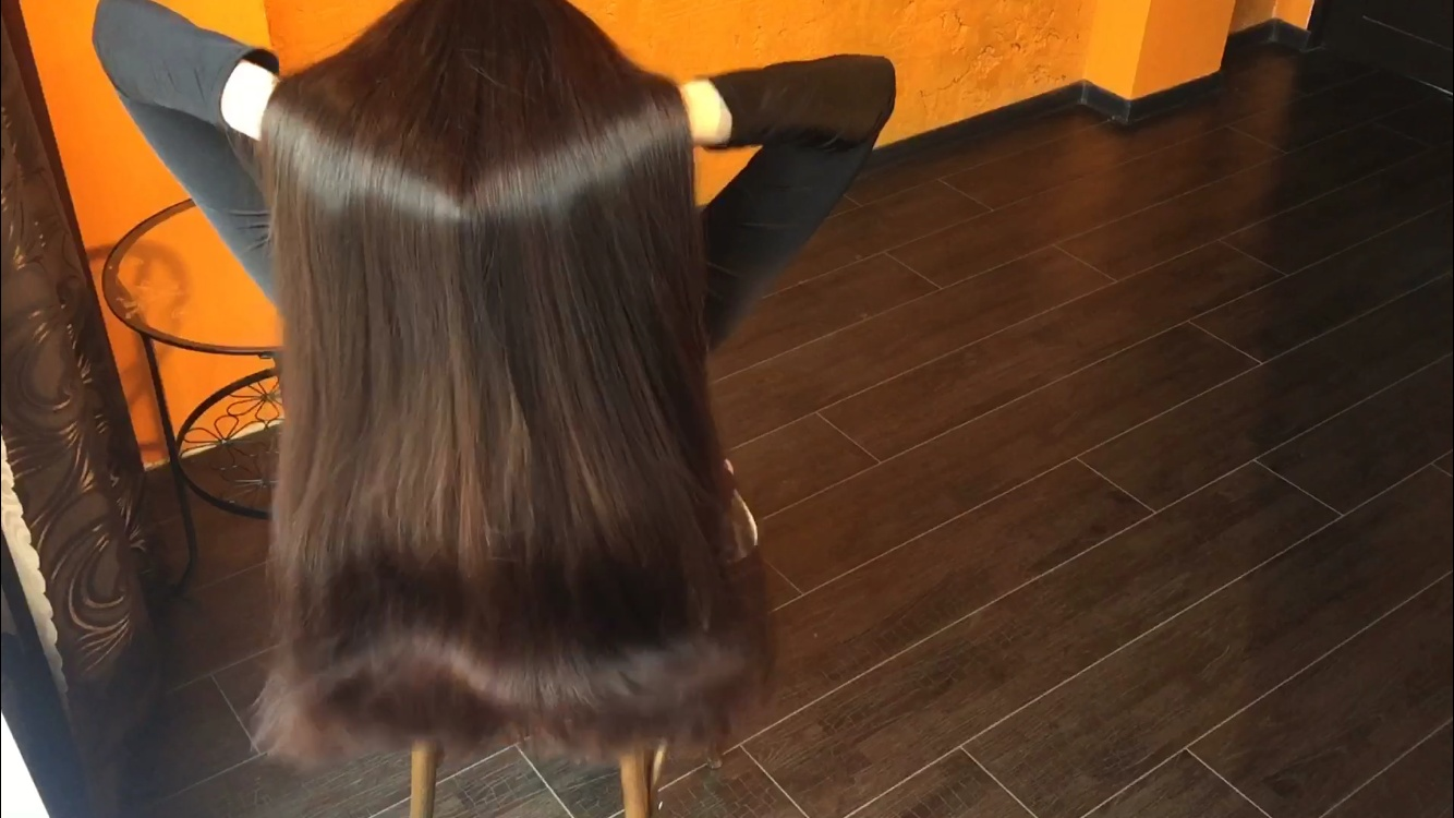 Hair play from Mila 10 minutes