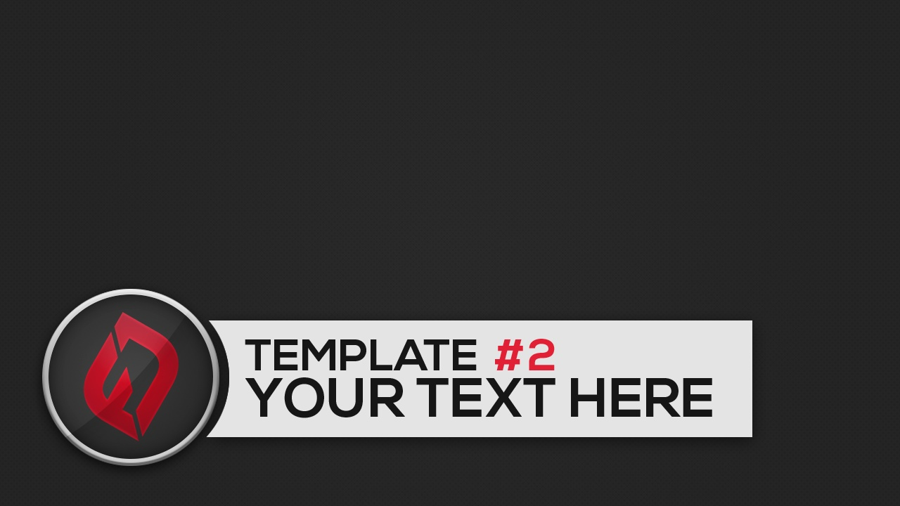 Thumbnail Template Pack 01