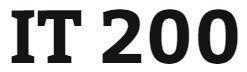 IT 200 Week 1 Week One Electronic Reserve Readings