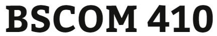 BSCOM 410 Week 4 Hot Button Issue Paper