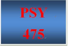 PSY 475 Week 3 Learning Team Deliverable