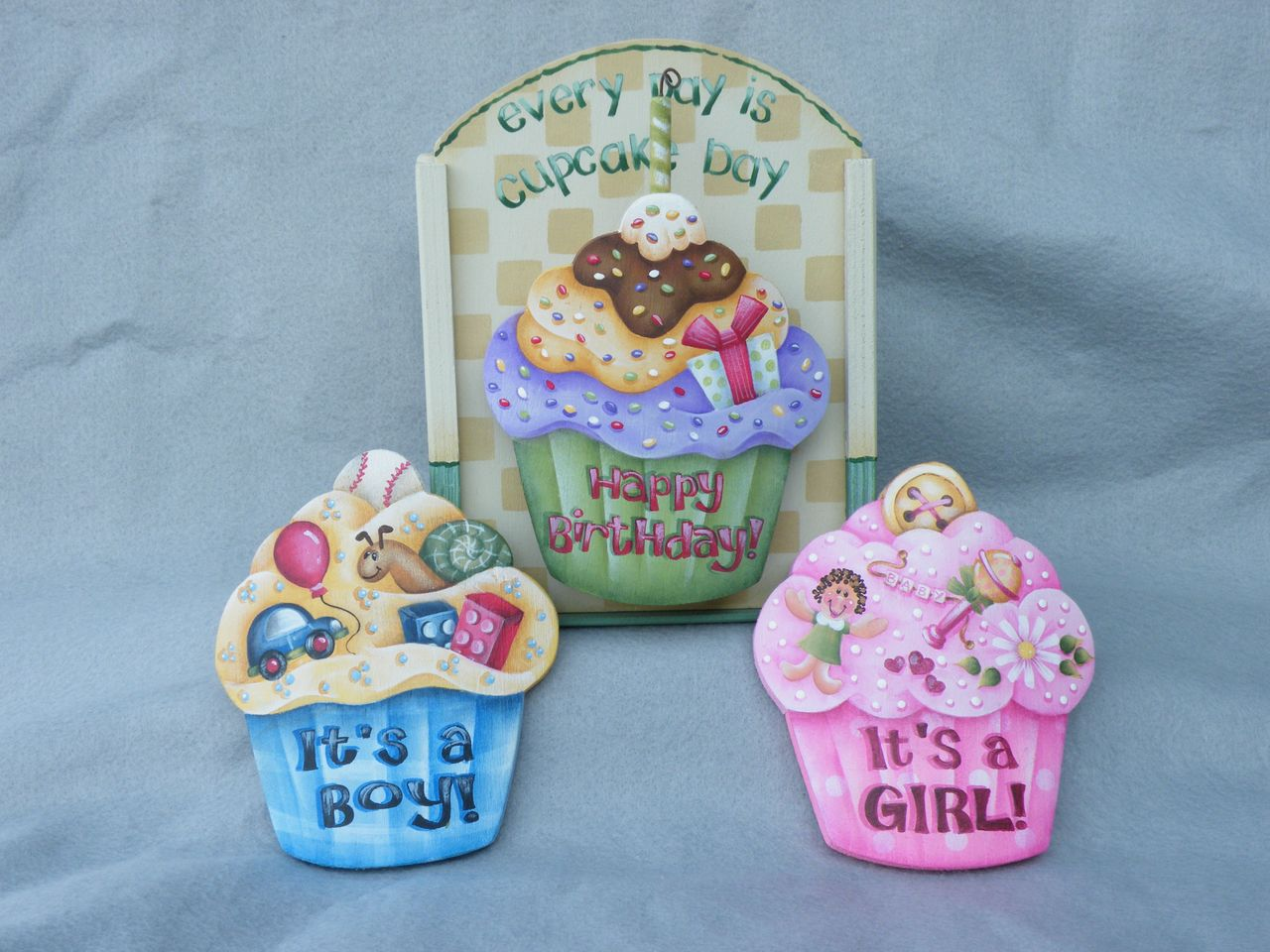e454 Everyday Cupcakes Baby Boy-Baby Girl-Birthday