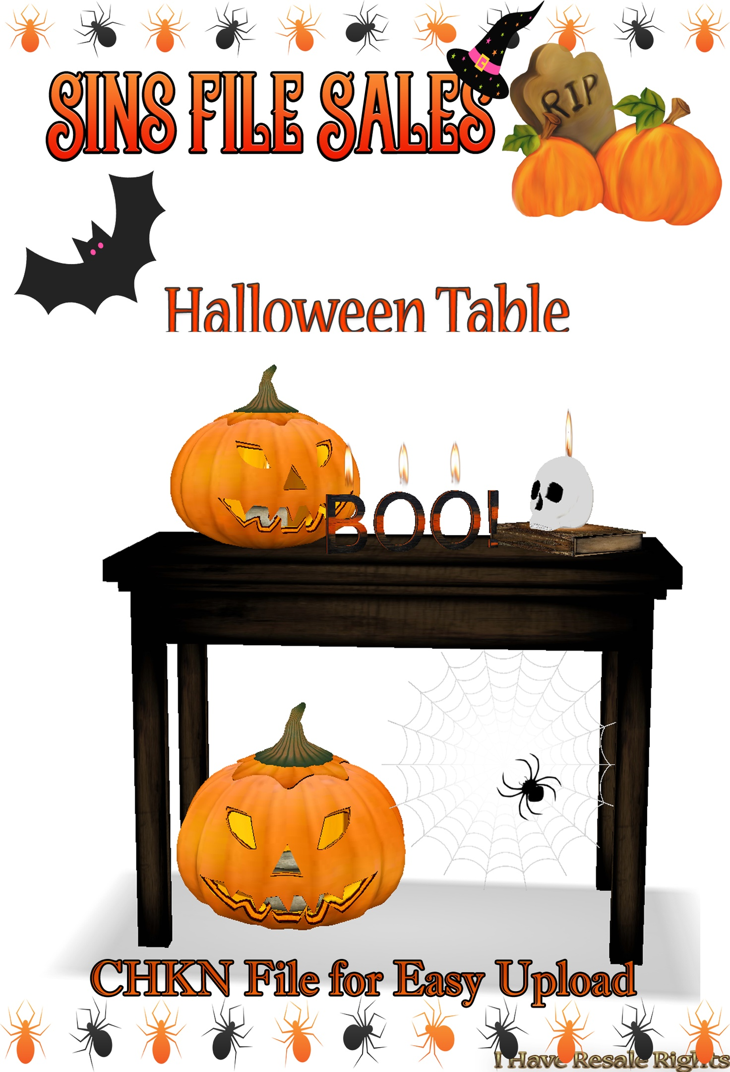 Halloween Decor Table