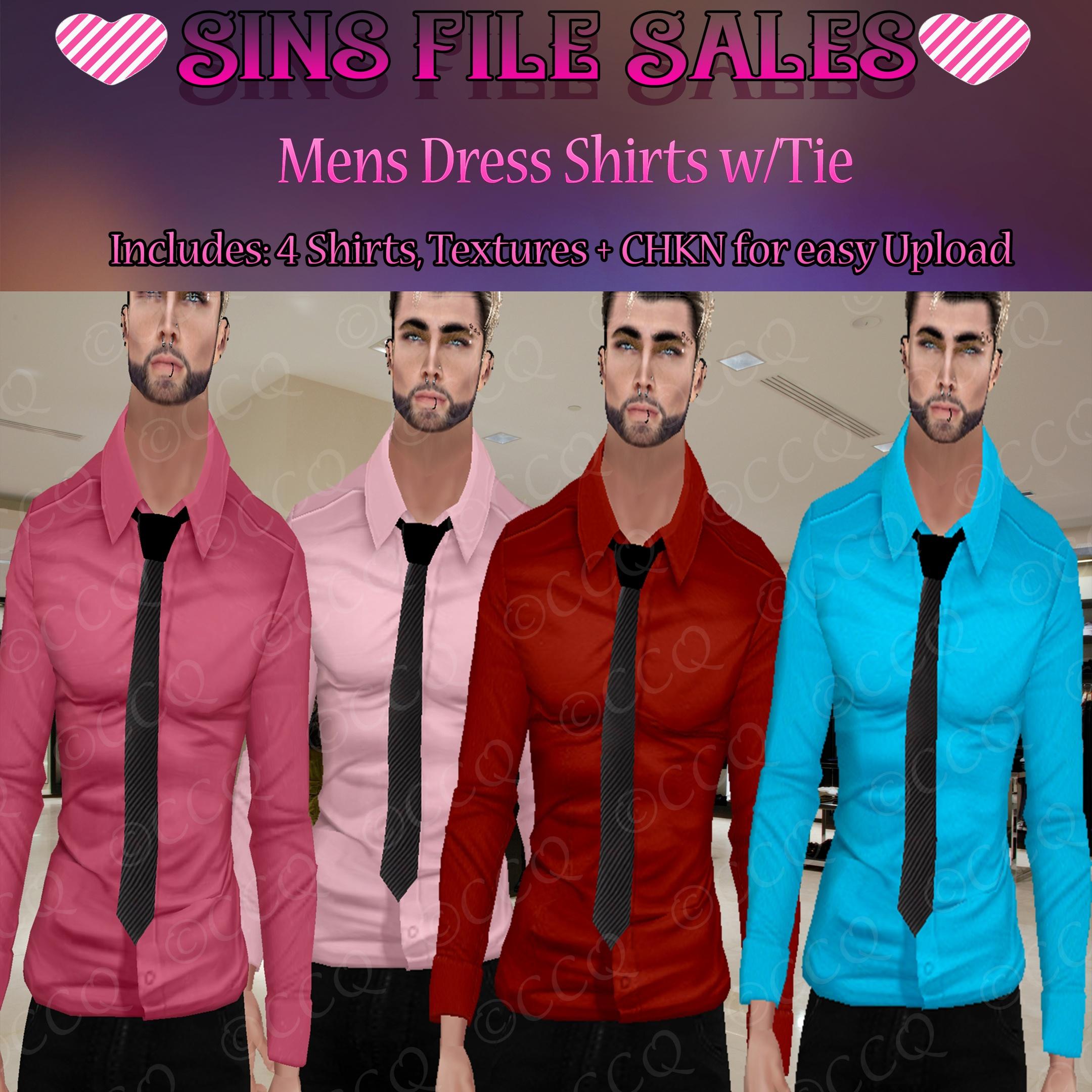 Mens Dress Shirt w/Tie