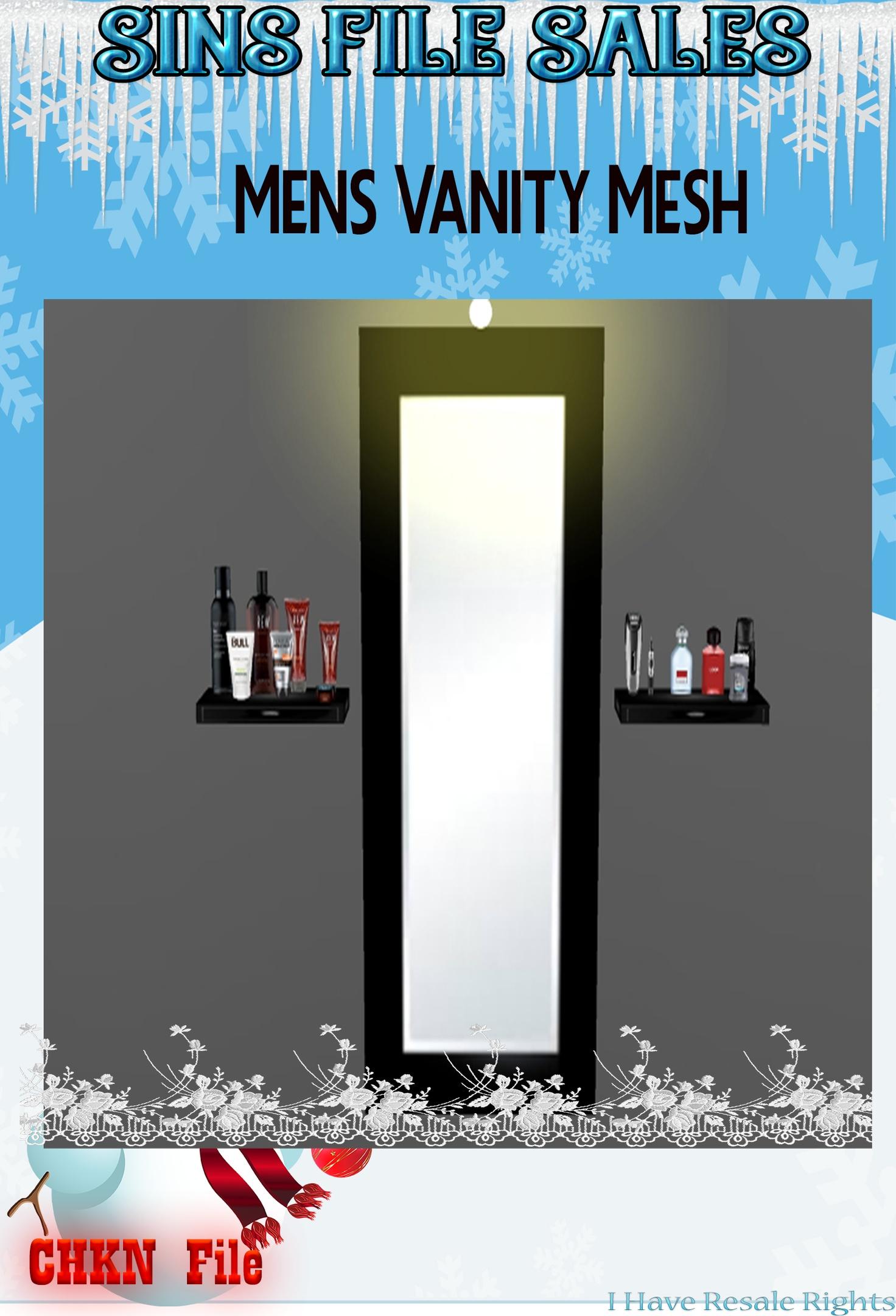 Mirror/Shelves Vanity