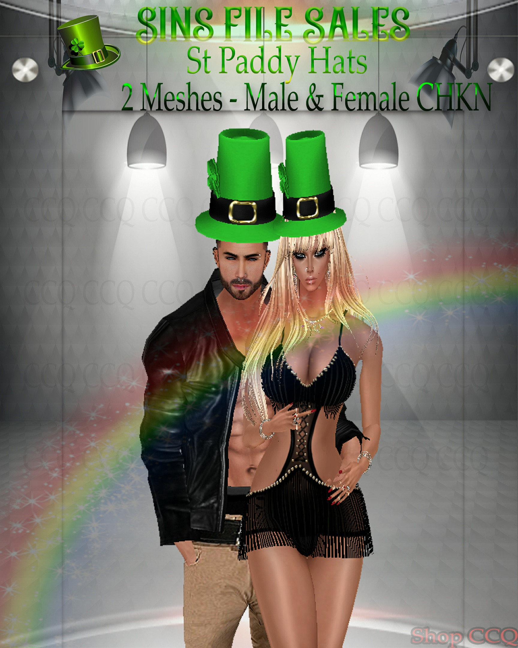 🍀 St Paddy Hats (2 Meshes Male & Female)