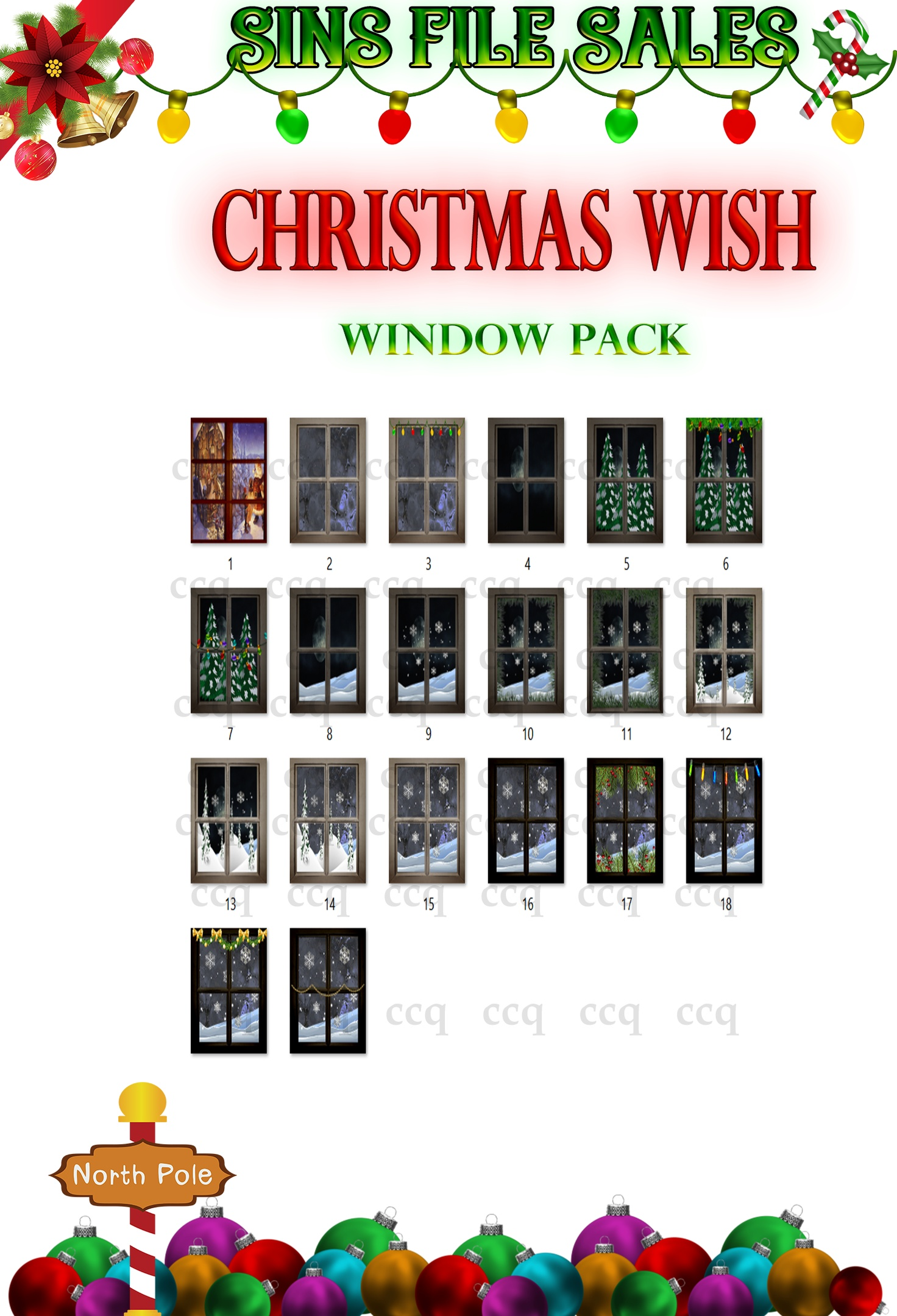 Christmas Wish-Window Pack