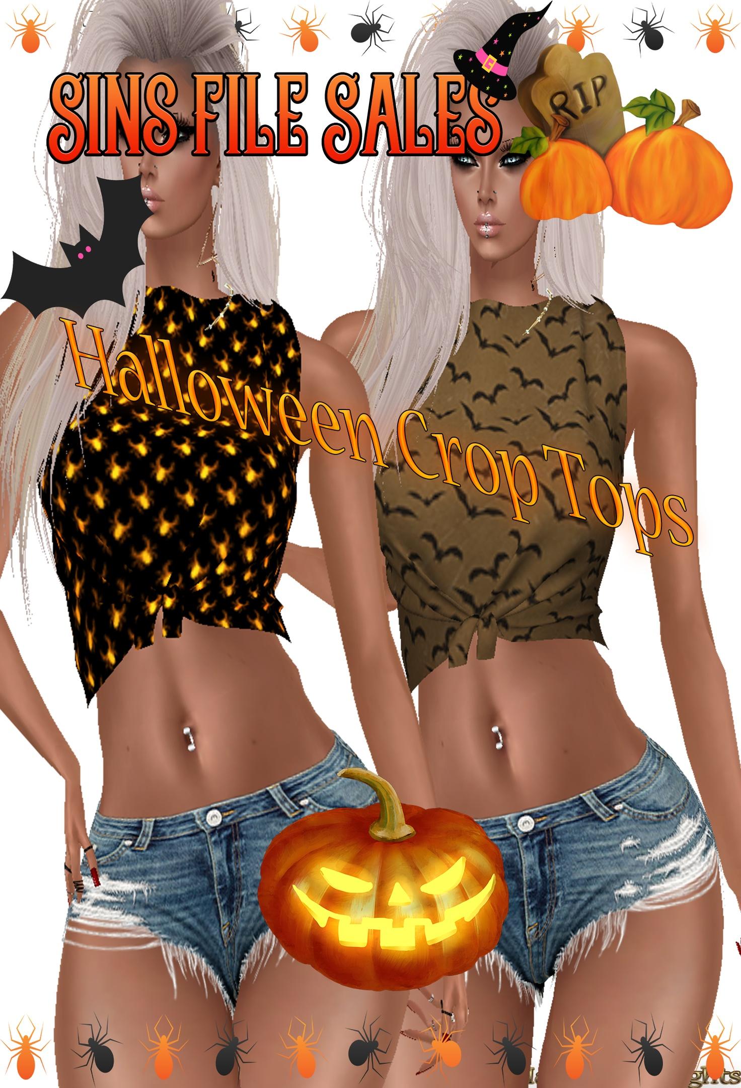 Halloween Crop Tops Freebie