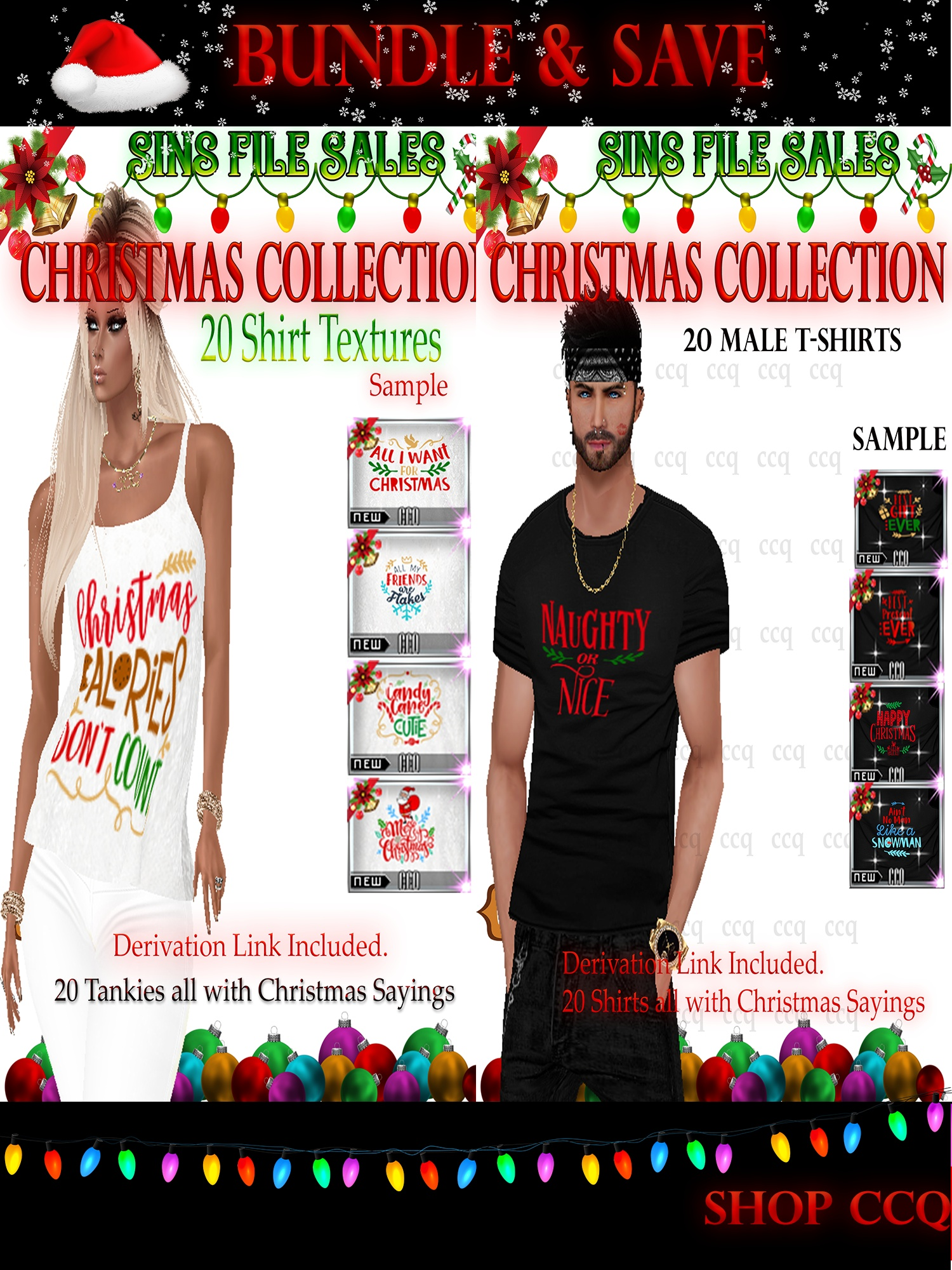 *Bundle & Save* Mens & Womans X-mas Themed Shirts *40 in total*