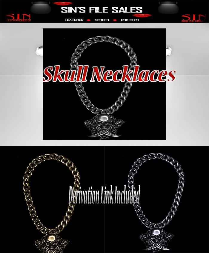 Skull Necklace Set