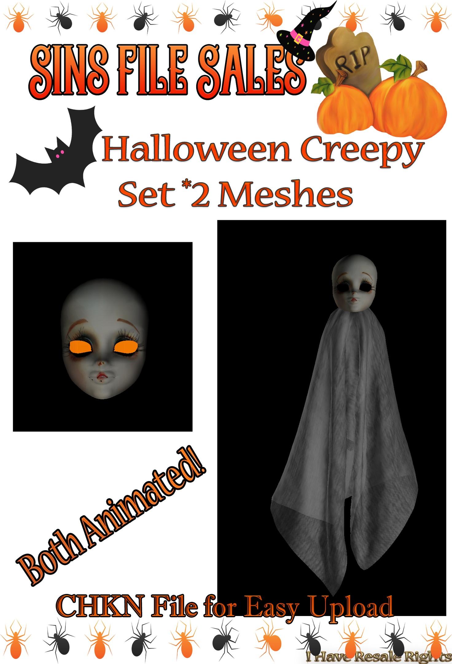 Halloween Creep Animated Set *2 Meshes