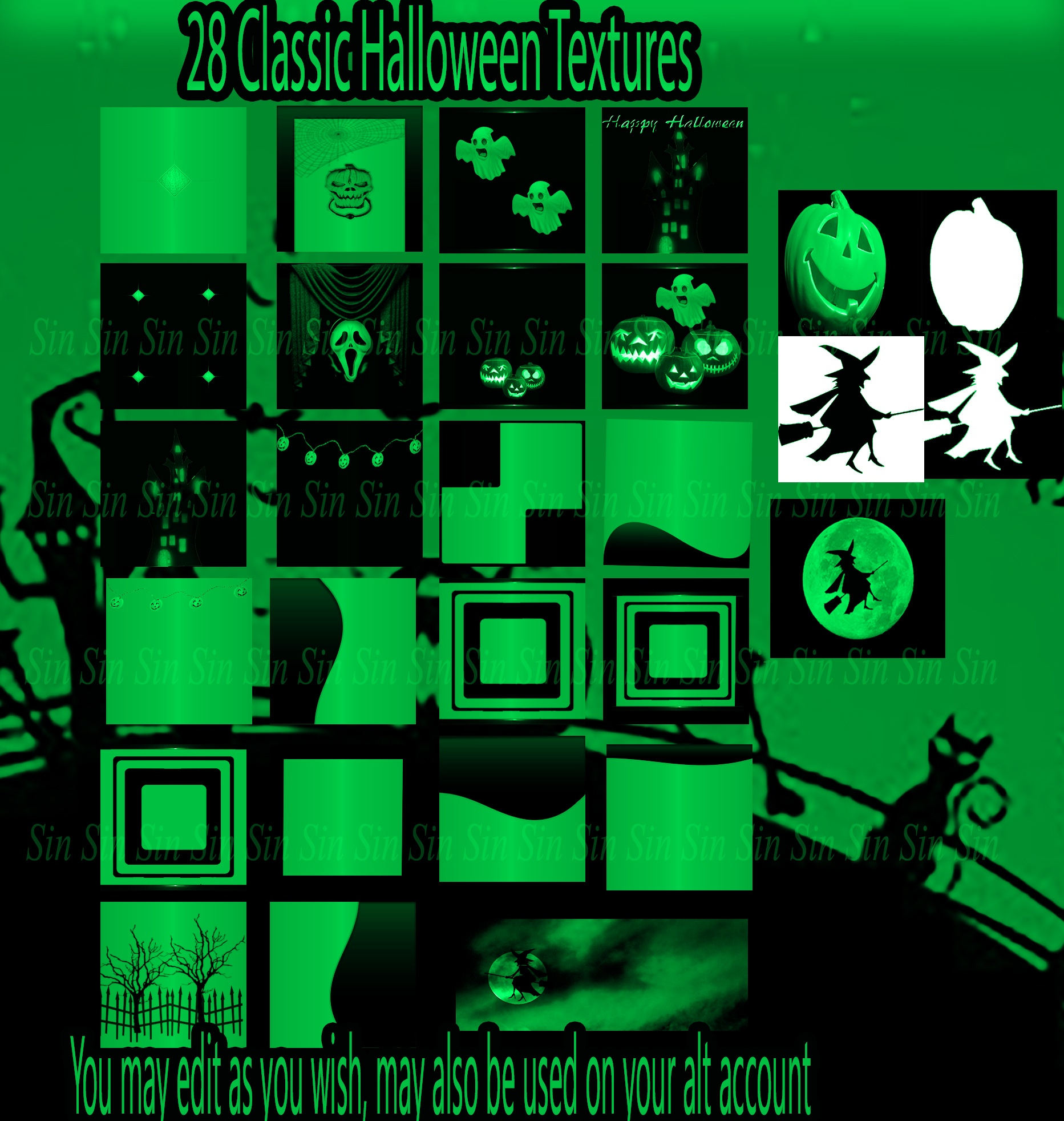Classic Green Halloween Textures* May use on alt account*