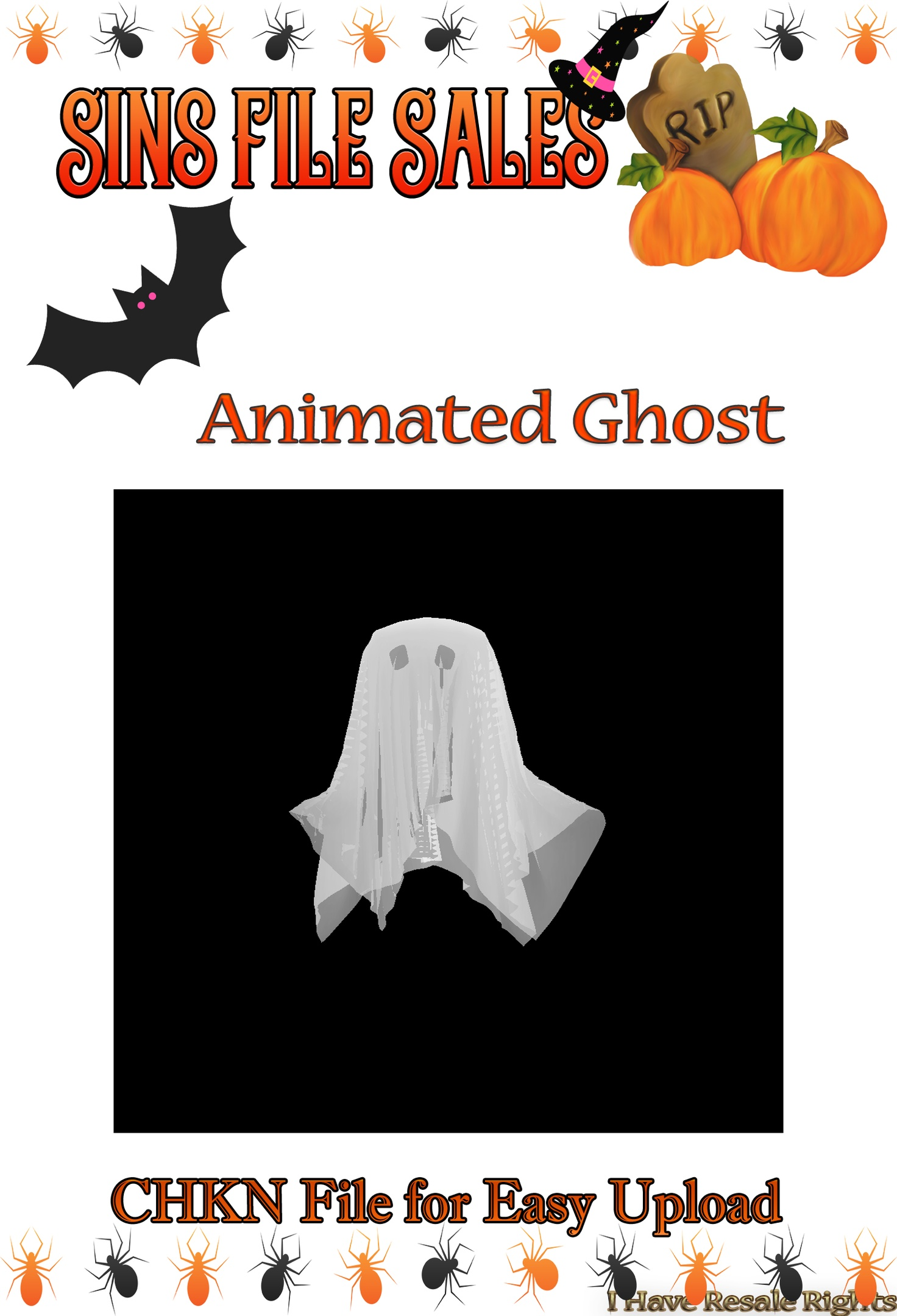 Halloween Animated Ghost
