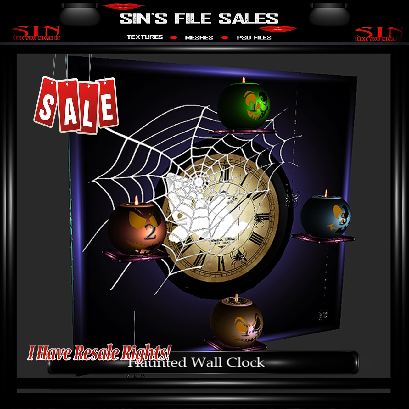 Haunted Clock Mesh