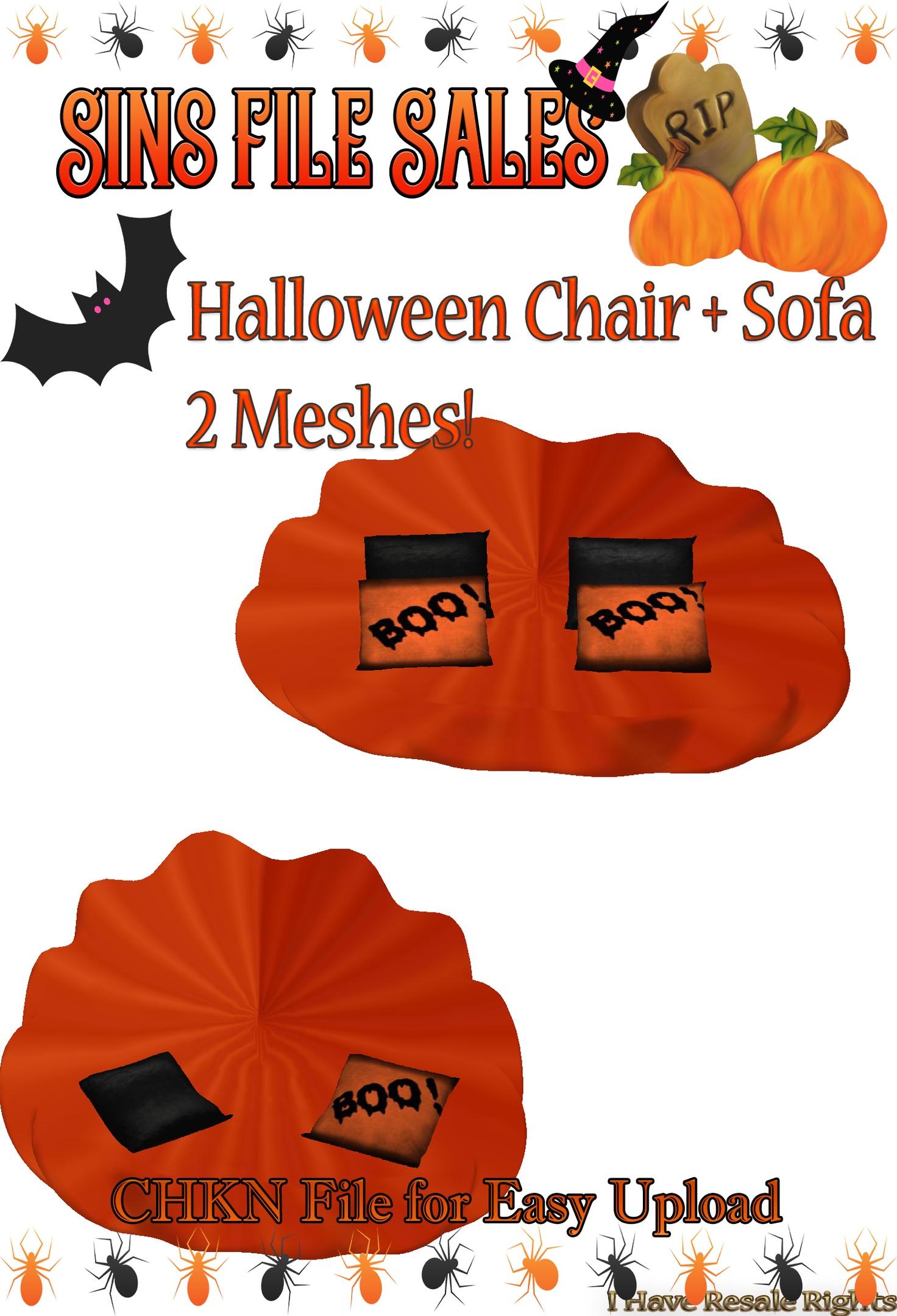 Halloween Sofa & Chair Set *2 Meshes
