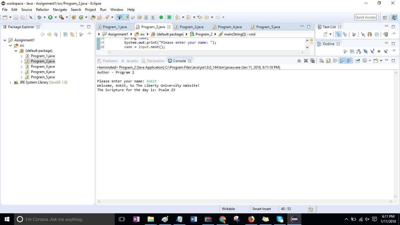 CSIS 212 Programming Assignment 1 Solution