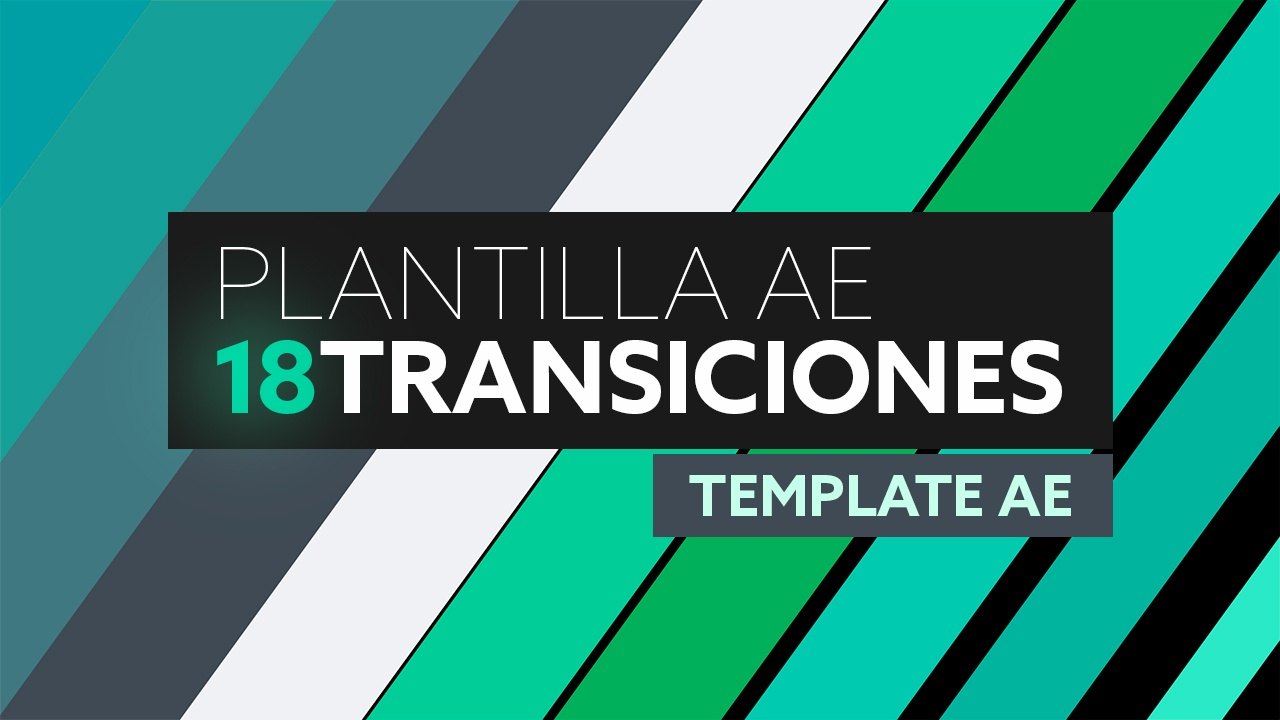 18 Transiciones Flat - Plantilla After Effects