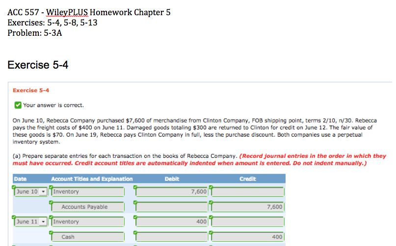 Wiley plus homework answers
