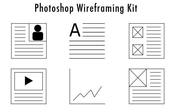Photoshop Wireframing Kit