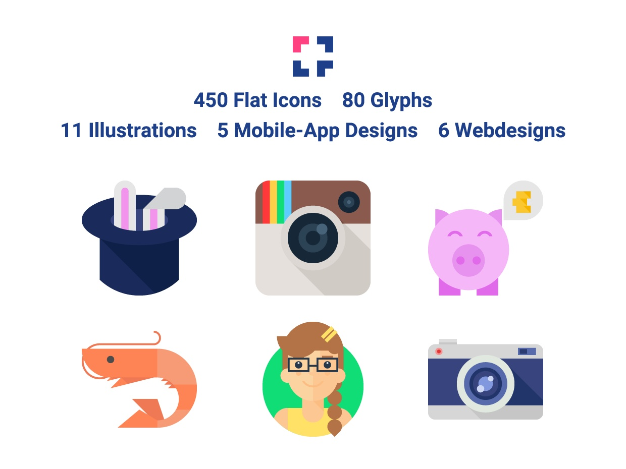 Shift: 450 Flat Icons & Much More