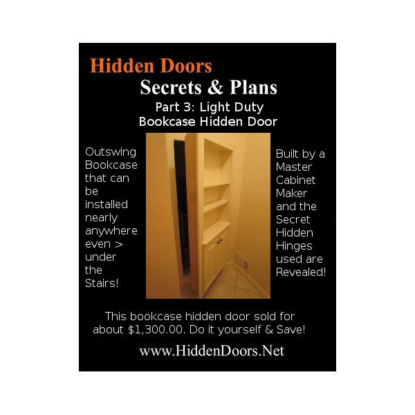Hidden Doors Manual Part 3: Light Duty Out-swing Bookcase Hidden Door