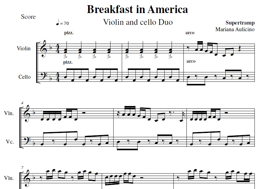 Breakfast In America - Supertramp - String Duet
