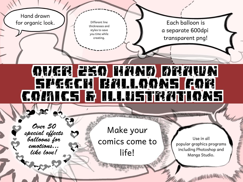 Hand Drawn Comic Balloons Mega Pack