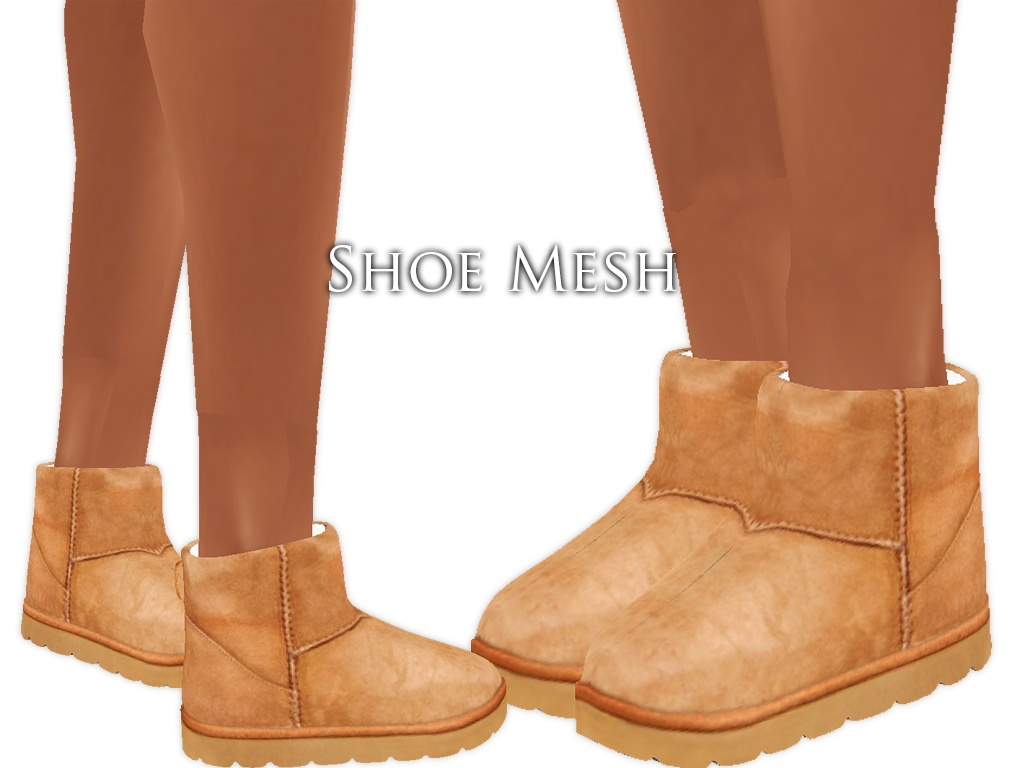 IMVU Mesh - Shoes - Fur