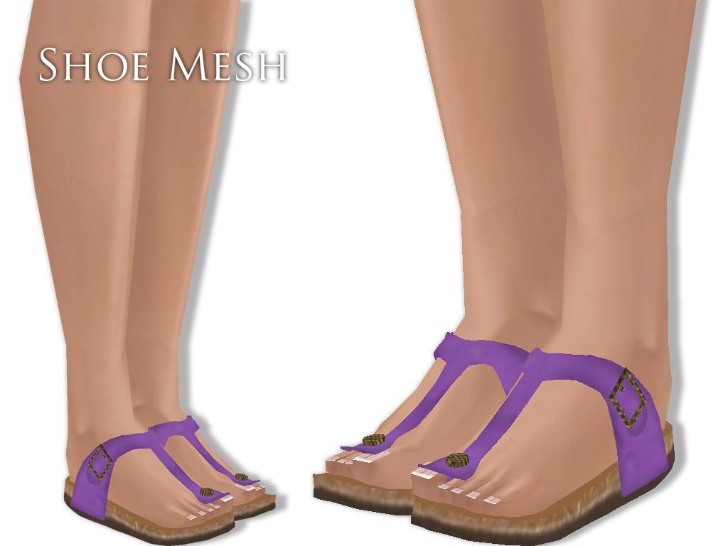 IMVU Mesh - Shoes - Sandals