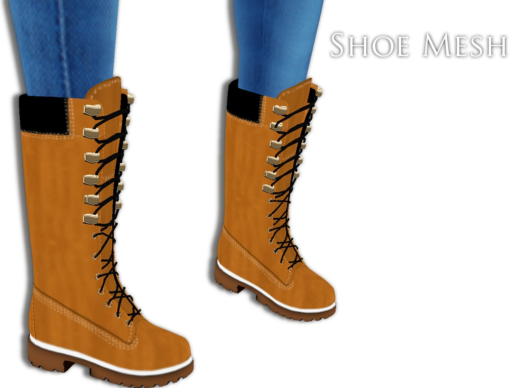 IMVU Mesh - Shoes - High Tims