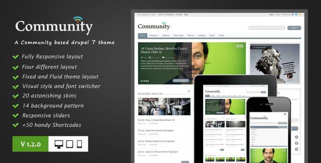 Community premium drupal 7 theme