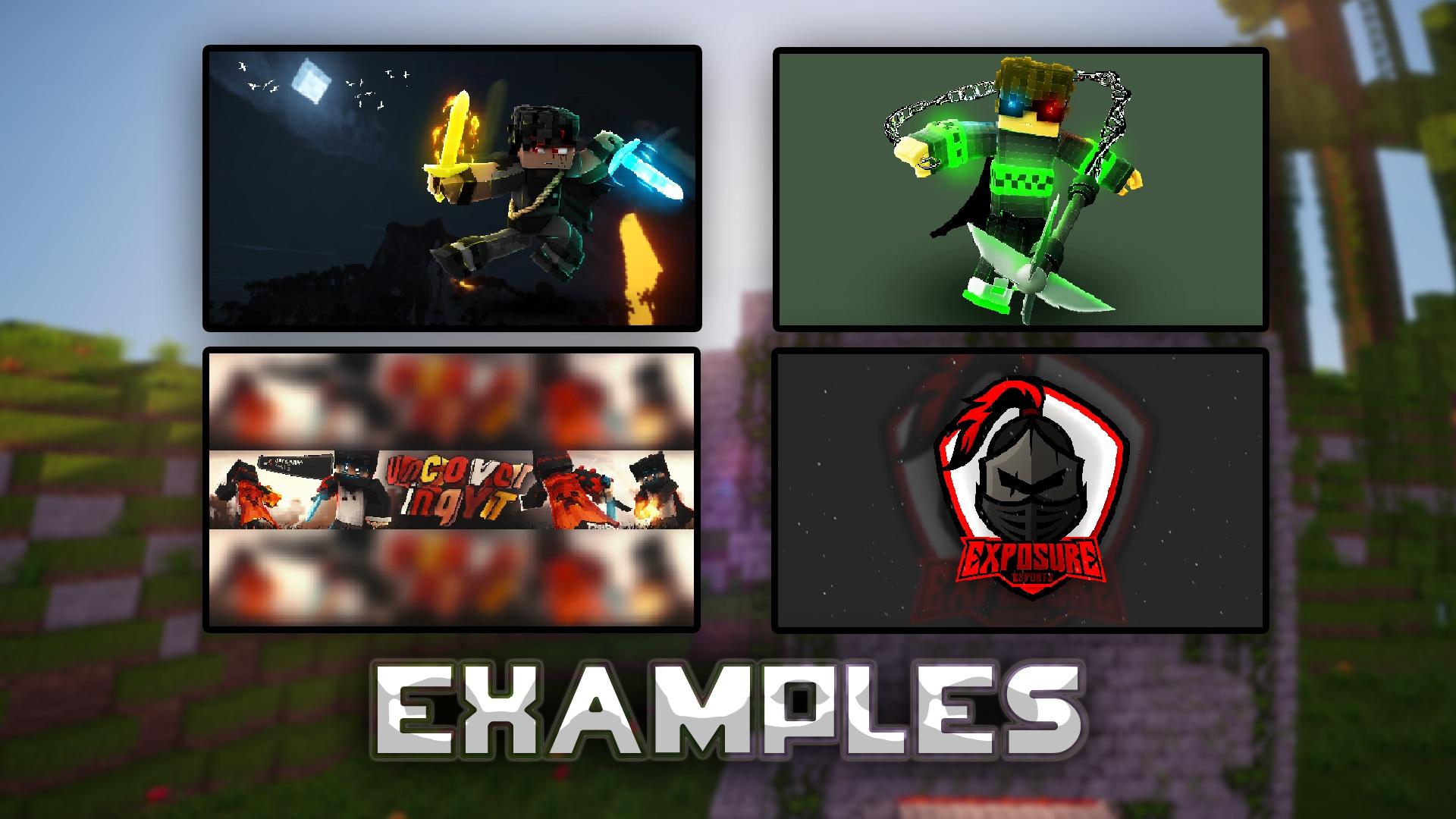Minecraft Graphic Design (Examples Above)