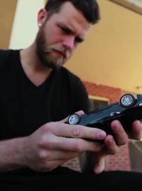 Kris finds a tiny car 2