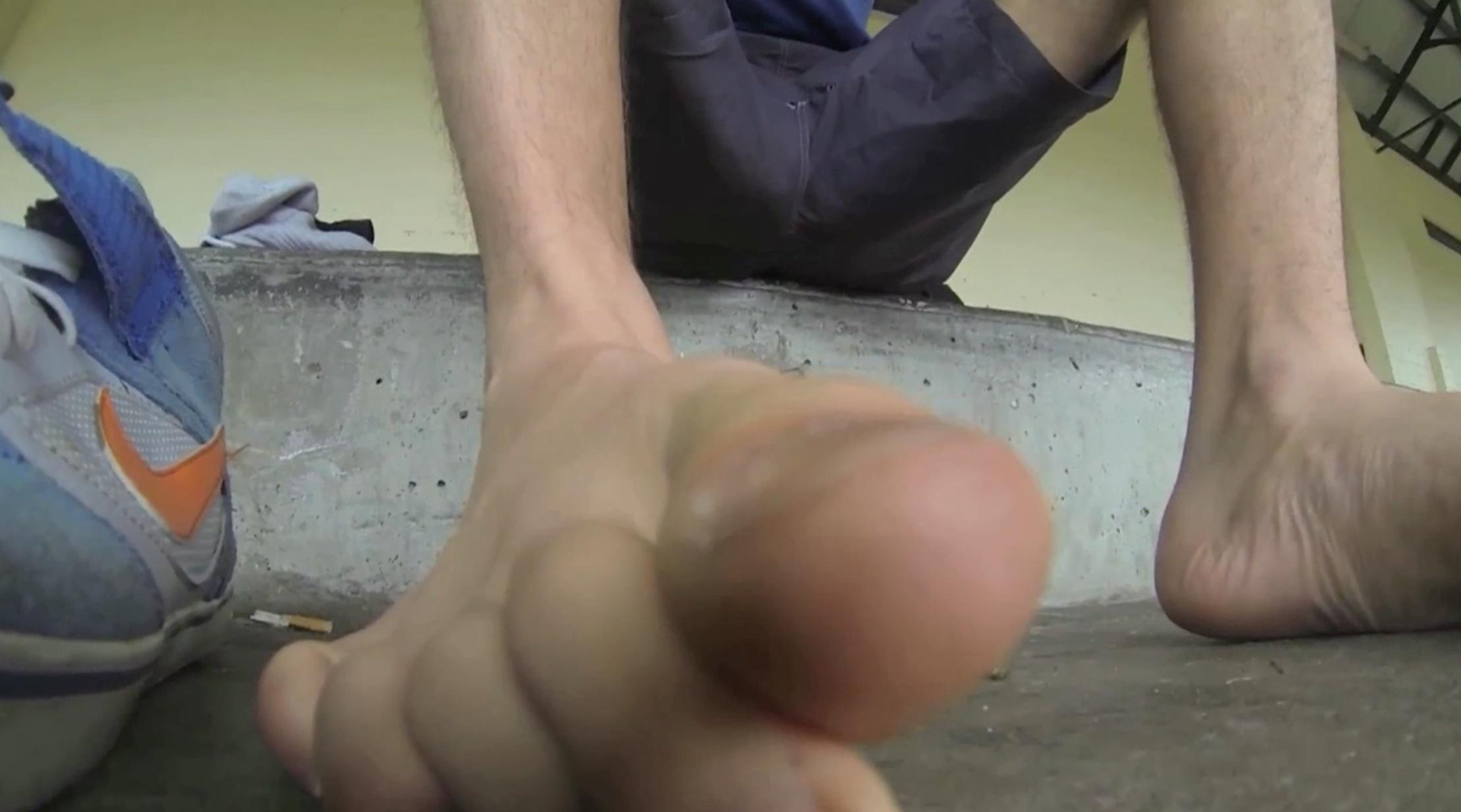 Hiding in Carl's shoe again