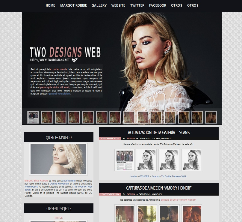 WP Premade 2 - Margot Robbie