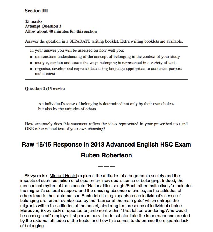 Hsc english paper 1 creative writing