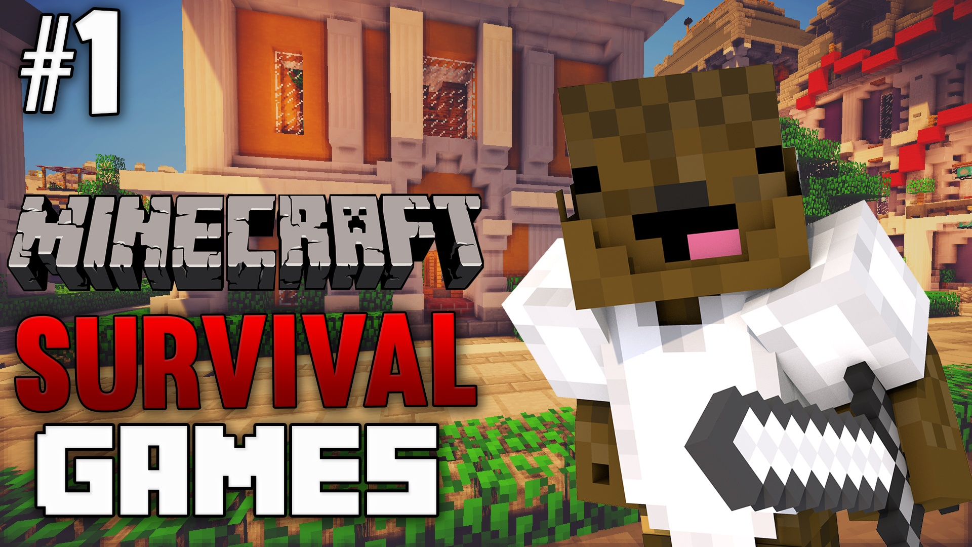 Minecraft Survival Games Thumbnail Template
