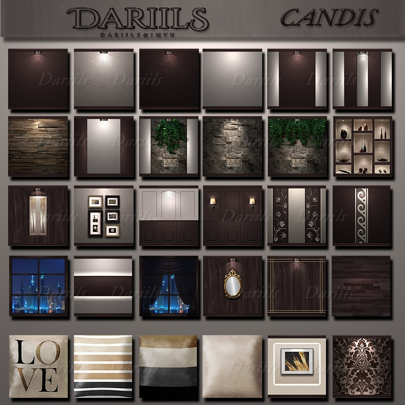 [D]Textures pack 40 Home Candis 2017
