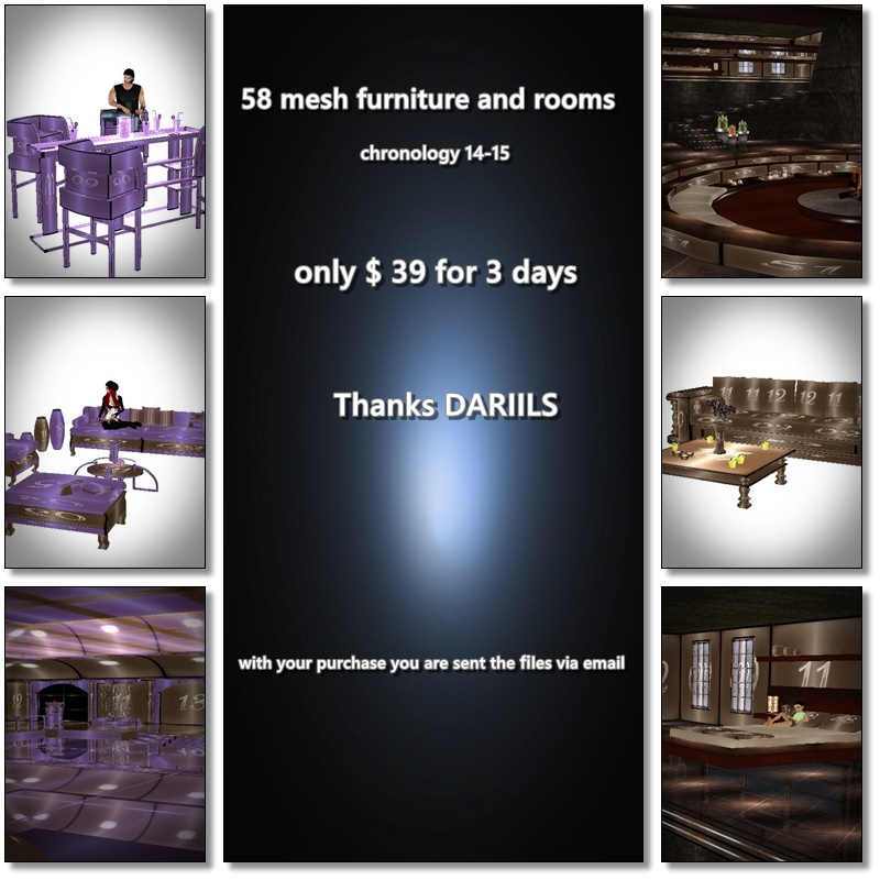 [D]Pack 58 Mesh_Furniture and rooms
