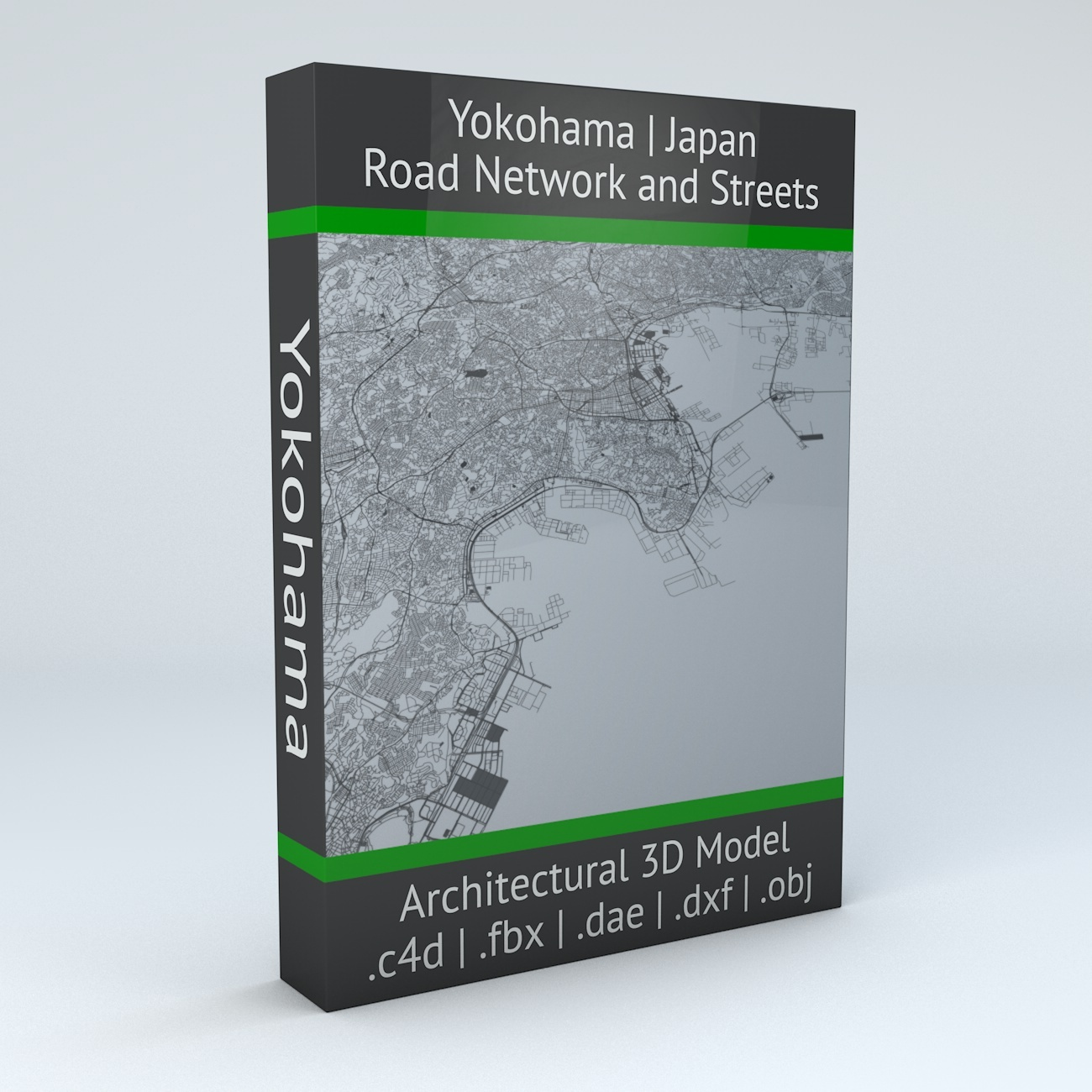 Yokohama Road Network Architectural 3D Model