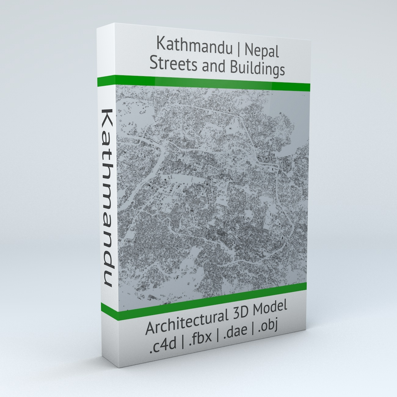 Kathmandu Streets and Buildings Architectural 3D Model