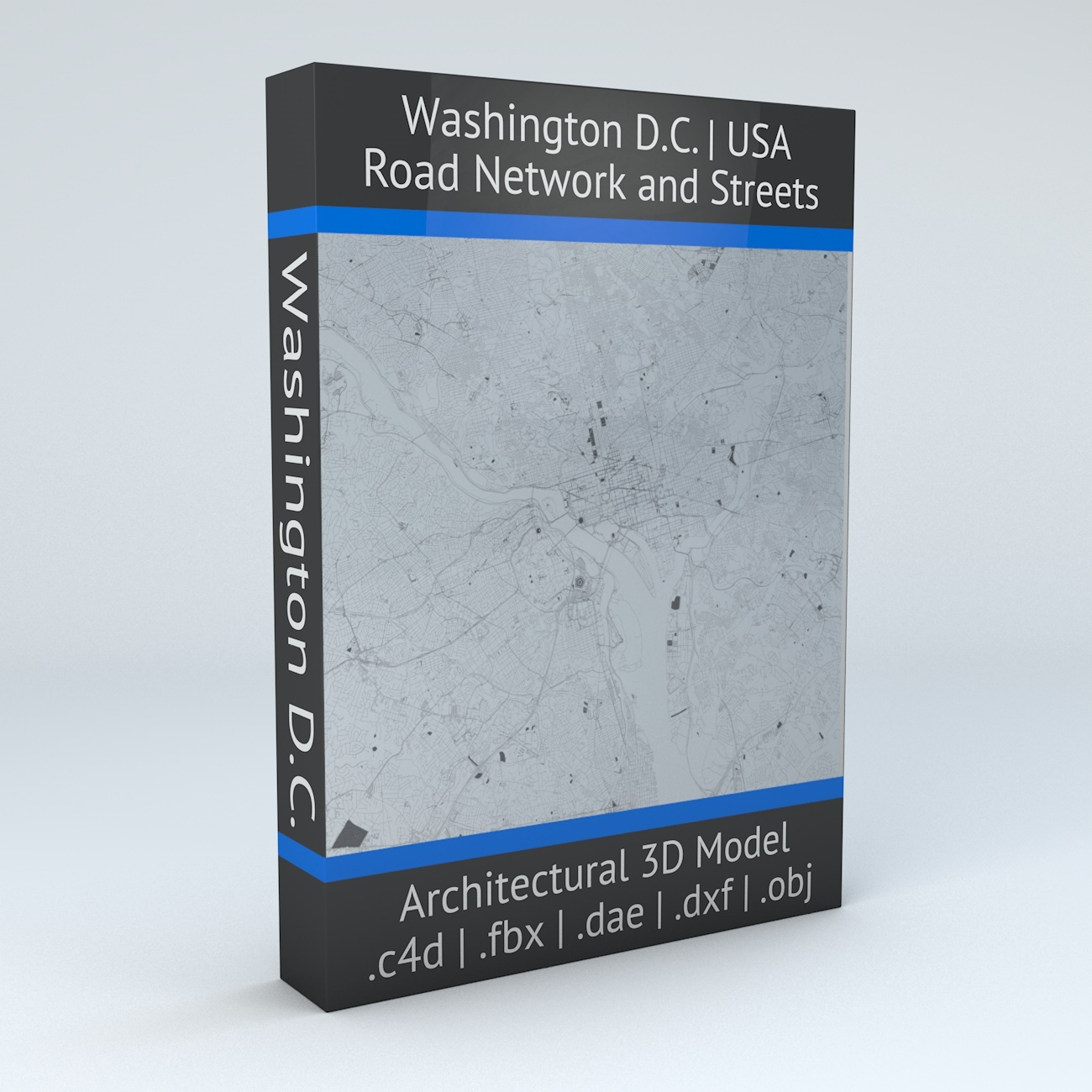 Washington DC Road Network Architectural 3D Model