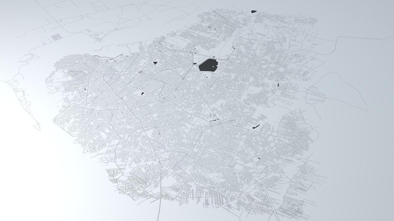 Asuncion Road Network Architectural 3D Model
