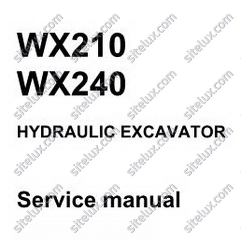 Case WX210-WX240 Mobile Excavator Service Manual - 9-91270