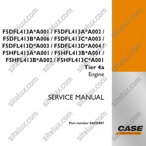 Case F5DFL413xxxxx Tier 4a Engine Service Manual