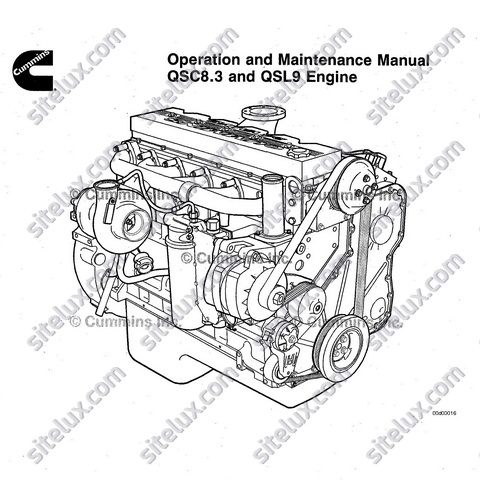 Cummins QSC8.3 and QSL9 Engine Operation and Maintenance Manual