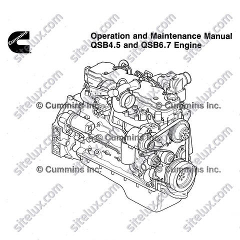 Cummins QSB4.5 and QSB6.7 Engine Operation and Maintenance Manual