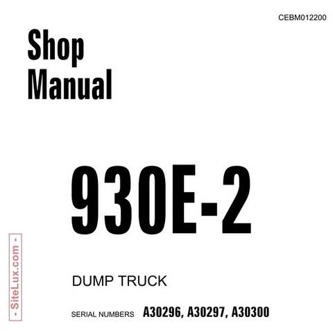 Komatsu 930E-2 Dump Truck Shop Manual - CEBM012200